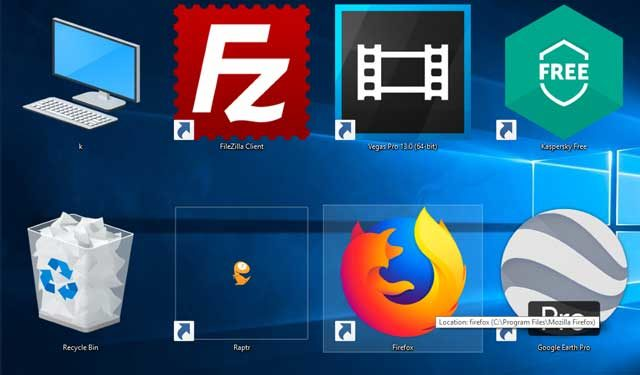 How to reduce desktop icon sizes on windows 10