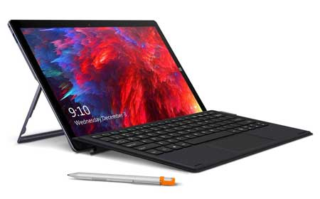 CHUWI-UBook-Tablet-with-Keyboard-and-H6-Stylus-Pen,-11-inch-IPS-Touchscreen-Windows-10-Tablet-PC-2-in-1,-Intel-Gemini-Lake-N4100-Quad-cores,-8GB-RAM-256GB-SSD