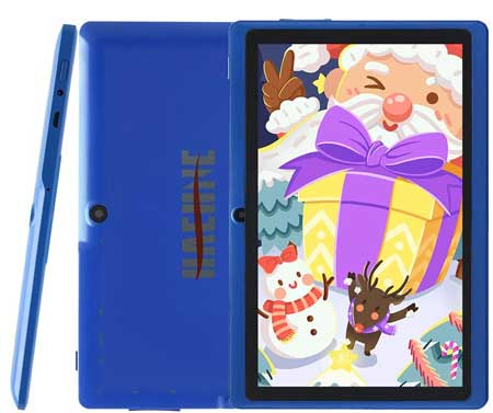 Haehne-7-Inch-Tablet-PC---Google-Android-9-Pie,-1G-RAM-16GB-ROM,-Quad-Core,-1024-x-600-IPS-HD-Display,-Dual-Camera