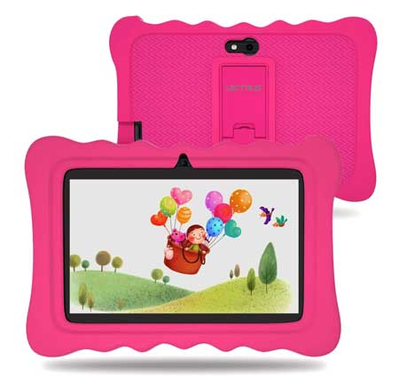 Lectrus-Kids-Tablet-7-inch,WiFi-Tablet-PC-Android-9-Pie-(GMS-Certified),-2GB+16GB-Storage,7-Display,Parental-Control,-Kids-Proof,Pink