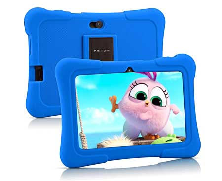 Pritom-7-inch-Kids-Tablet,-Quad-Core-Android,1GB-RAM+16GB-ROM,-WiFi,Bluetooth,Dual-Camera