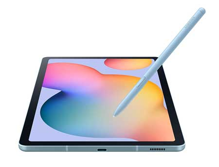 Samsung-Galaxy-Tab-S6-Lite-10-inches,-64GB-WiFi-Tablet-Angora-Blue---SM-P610NZBAXAR---S-Pen-Included