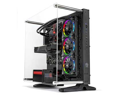 SkyTech-Supremacy-Gaming-Computer-PC-Desktop---i7-7700K,-500GB-Samsung-960-Evo-SSD,-GTX-1080-8GB,-360mm-RGB-Liquid-Cool,-2TB,-32GB-DDR4-(RTX-2080-TI